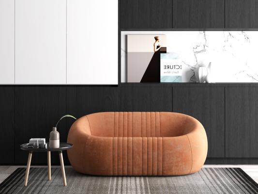 现代懒人沙发椅3D模型【ID:640673698】