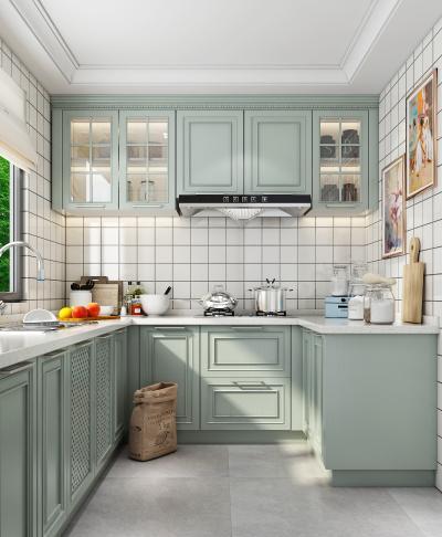 简欧厨房3D模型【ID:544367332】