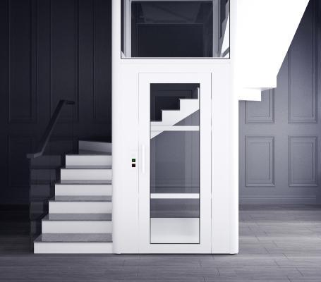 现代别墅透明电梯3D模型【ID:945944528】