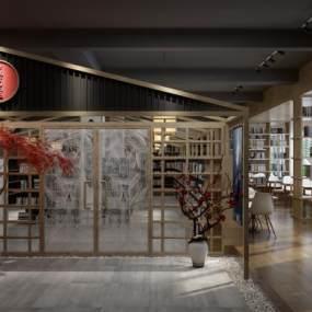 新中式图书室3D模型【ID:944021841】