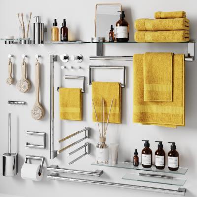 现代浴室用品配件3D模型【ID:645828402】