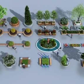 现代景观小品3D模型【ID:134855453】