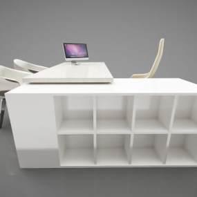 現代風格辦公桌3D模型【ID:950604153】