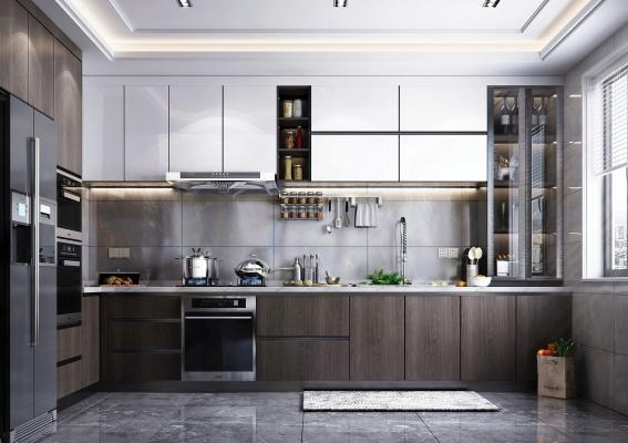 现代风格厨房3D模型【ID:546875334】