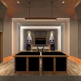 现代录音棚3D模型【ID:152604225】