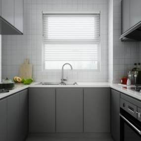 北欧厨房3D模型【ID:535847310】
