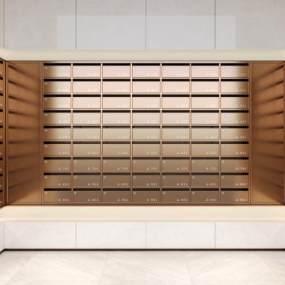 现代信报箱,储物柜,信箱,报箱,邮箱,电梯间信箱,公用信箱3D模型【ID:430498567】