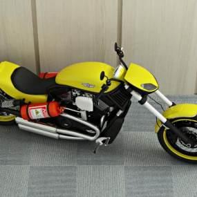 现代摩托车3D模型【ID:433756793】