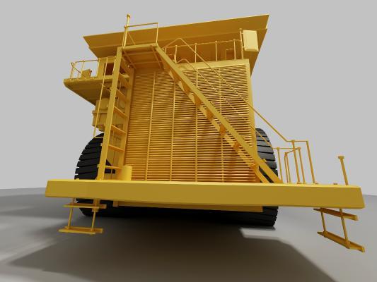 現代工程車3D模型【ID:442007751】