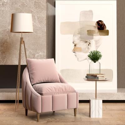 现代单人沙发椅3D模型【ID:652601411】