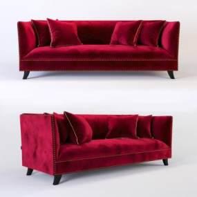 现代红啊色布艺双人沙发3D快三追号倍投计划表【ID:634197581】