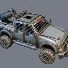 工业风战地车3D模型【ID:432837776】
