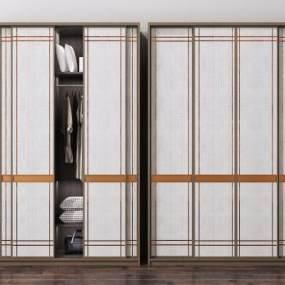 新中式衣柜裝飾柜組合3D模型【ID:150297476】