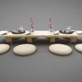 現代風格餐桌3D模型【ID:846938894】