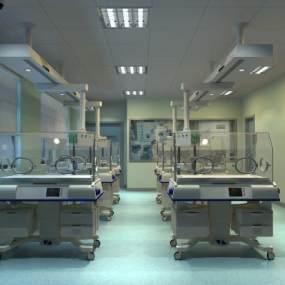 现代婴儿监护室3D模型【ID:943438784】