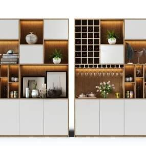 现代酒柜3D模型【ID:644372281】