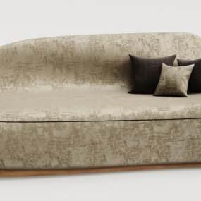 现代绒布沙发3D模型【ID:635669505】