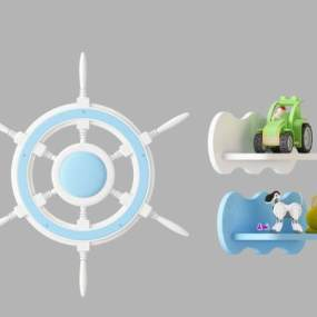 美式简约玩具摆件3D模型【ID:335724426】