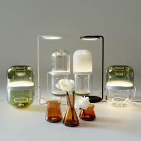 现代玻璃瓶3D模型【ID:245045595】
