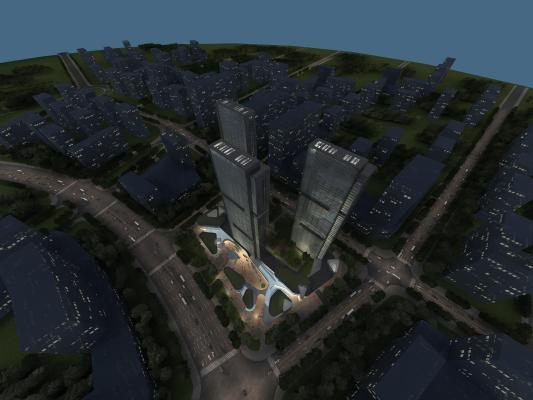 現代規劃3D模型【ID:242498067】