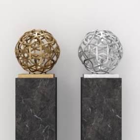 现代雕塑摆件3D模型【ID:353930152】