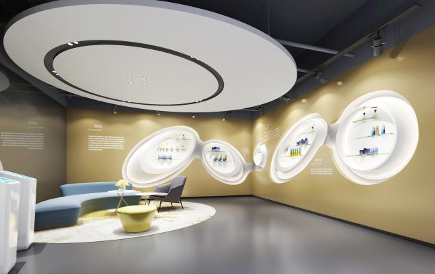 新中式娱乐室3D模型【ID:843804667】