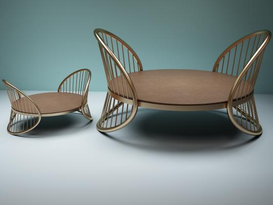 桌椅3D模型【ID:740980622】