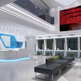 現代醫院大廳3D模型【ID:947832700】