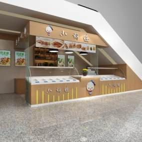 现代熟食店3D模型【ID:643570927】