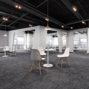 现代办公室3D模型【ID:934750047】