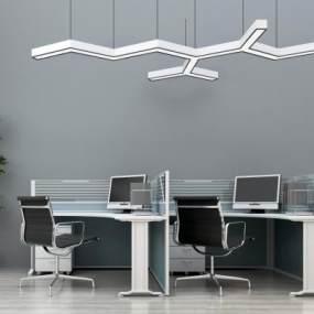 现代办公桌椅3D模型【ID:932525190】
