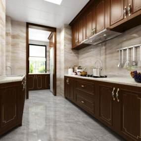 现代厨房3D模型【ID:532126354】