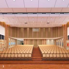 新中式会议室3D模型【ID:935775652】
