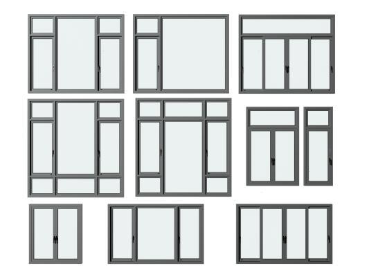 现代铝合金门窗组合
