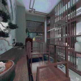 酒店休息区3D模型【ID:641745579】