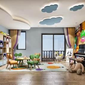 現代幼兒園活動教室3D模型【ID:944005616】