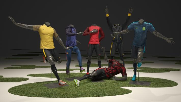 现代Nike男士运动服装模特3D模型【ID:332920070】