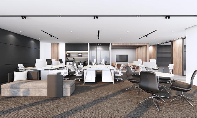 现代办公室3D模型【ID:942414012】