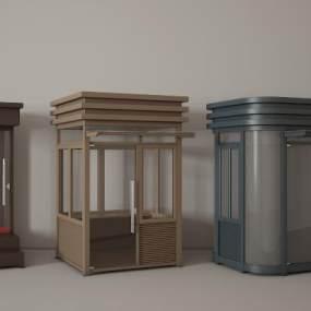 岗亭3D模型【ID:136160357】