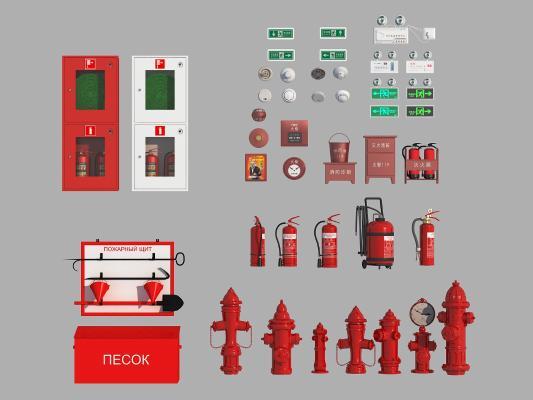 现代消防栓3D模型【ID:441691540】