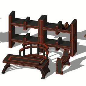 中式桌椅【ID:449176241】