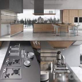 现代厨房3D模型【ID:133066798】