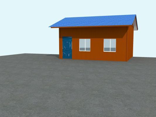 现代工业厂房3D模型【ID:242181396】