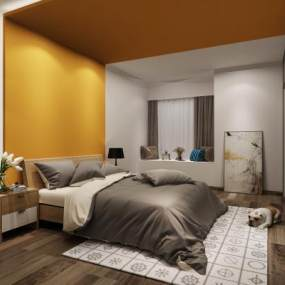 现代卧室3D模型【ID:533257280】