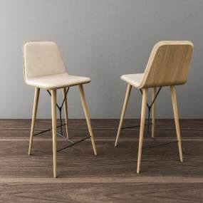 北欧吧台椅3D模型【ID:736038250】