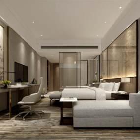 现代酒店套间3D模型【ID:733034387】