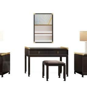 新中式床头柜3D模型【ID:835980962】