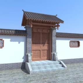 传统中式古建筑3D模型【ID:235774197】
