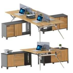 现代办公桌组合3D模型【ID:935418108】