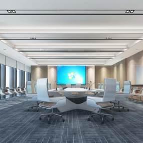 现代风格大会议室3D模型【ID:943302016】